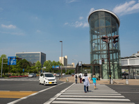Tsukuba Station of intersection Stock photo [4456842] Tsukuba