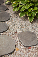 Stepping stone and the planting of the Japanese garden Stock photo [4531912] Japanese