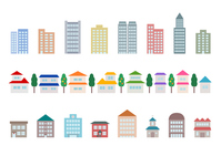 Cityscape building illustration icon [4542597] Row