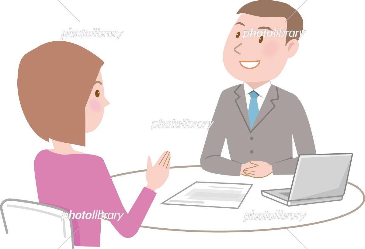 対話をしている2人 イラスト素材 [ 4610762 ] - フォトライブラリー ...