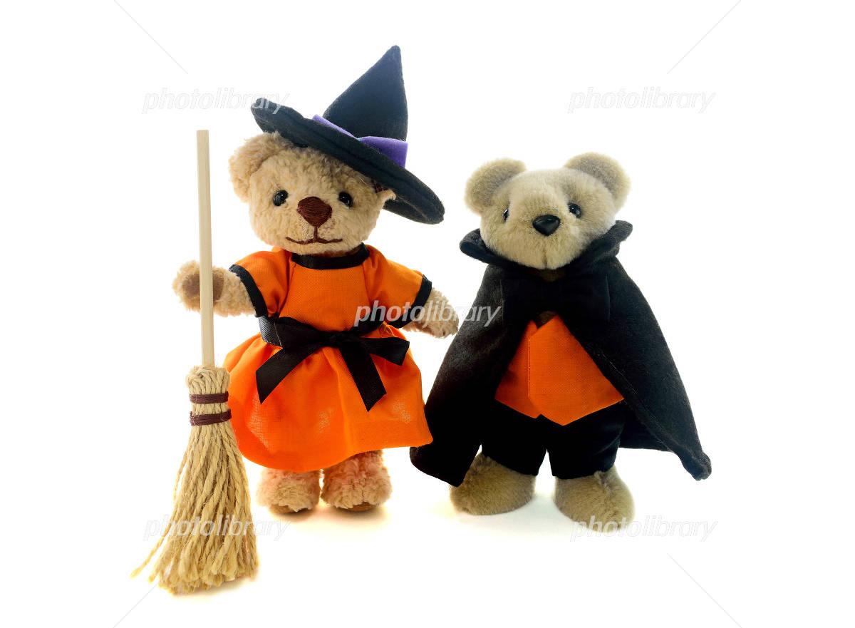 Children to the costume of Halloween Photo
