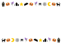 Halloween illustration background material pattern frame [4606316] October