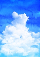 Summer blue sky watercolor style [4607096] blue