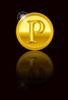 Gold point coin medal point card material [4666242] point