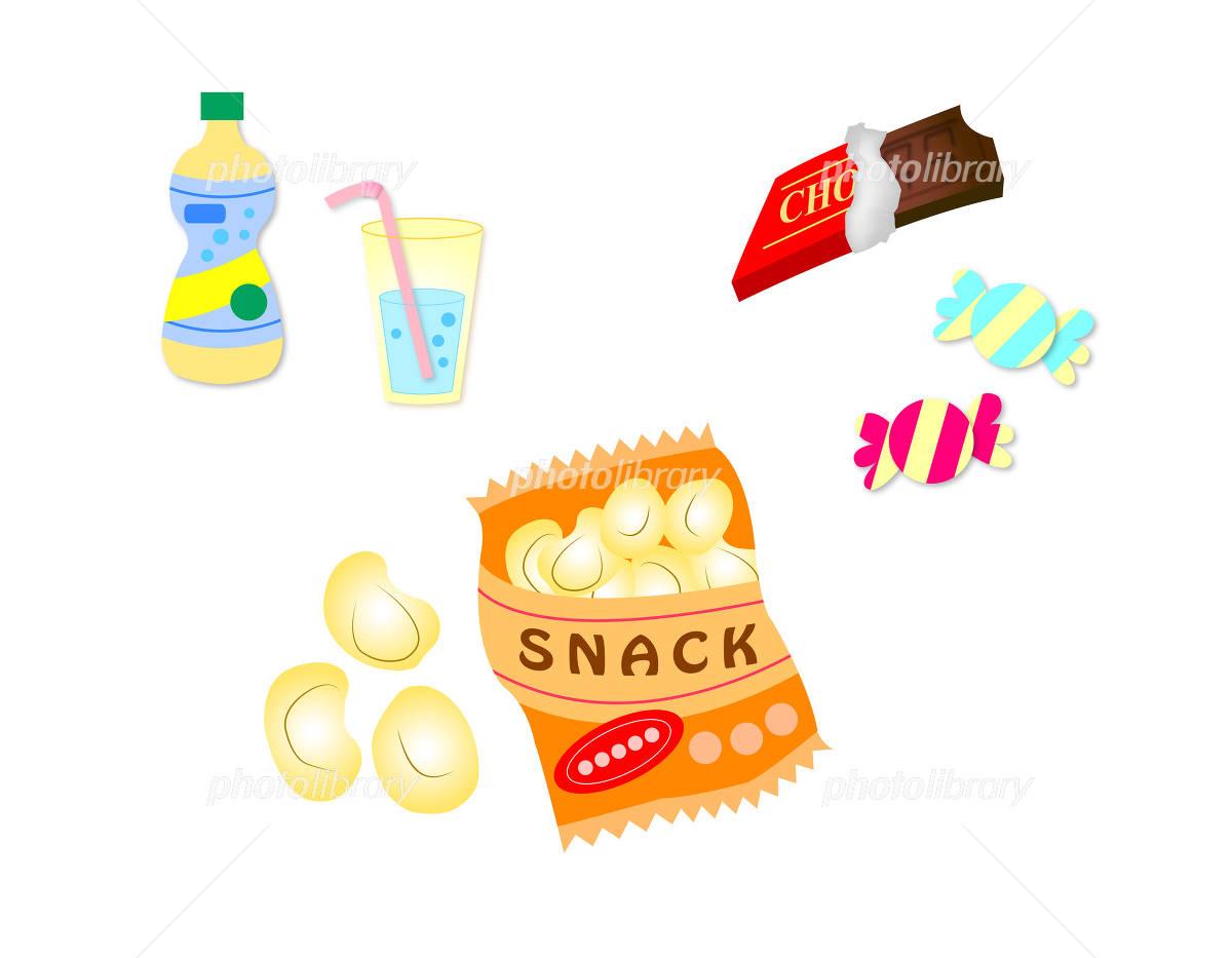 お菓子 かわいい イラスト ジュース あめ チョコレート スナック菓子 イラスト素材 フォトライブラリー Photolibrary