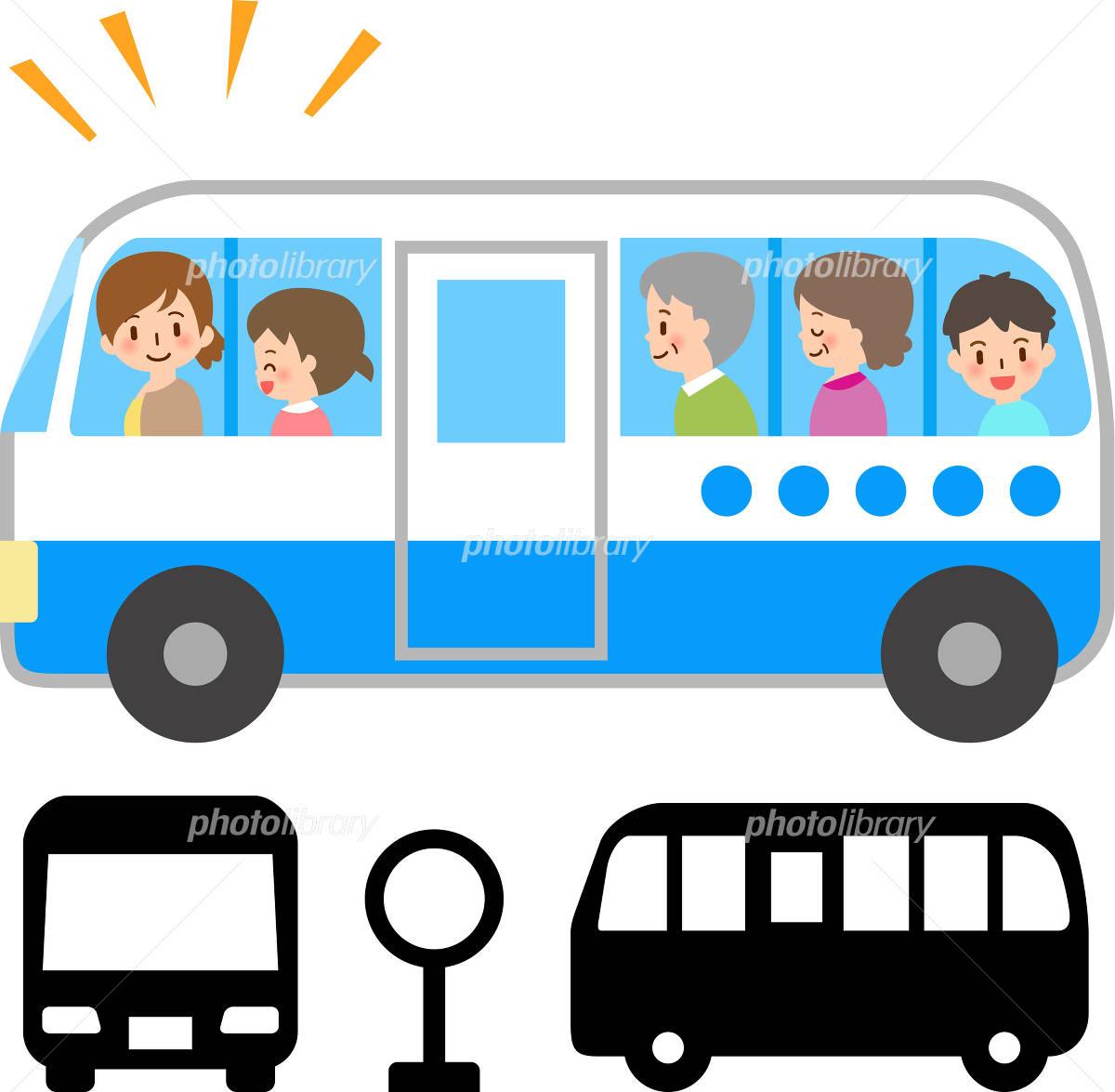 シャトルバスと笑顔の乗客 イラスト素材 4731227 フォトライブ