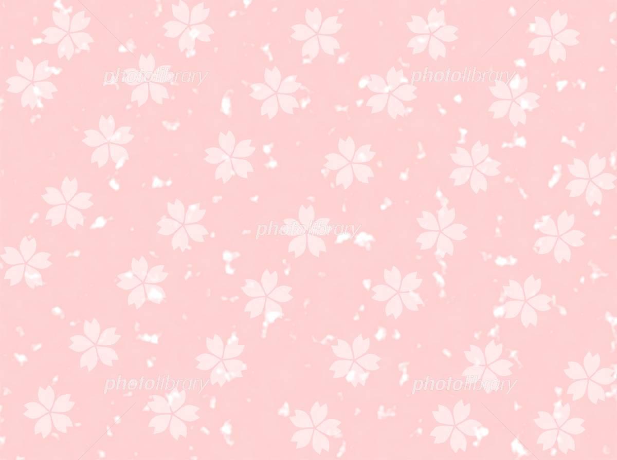 白い桜柄 ピンク背景素材 イラスト素材 4815039 フォトライブ