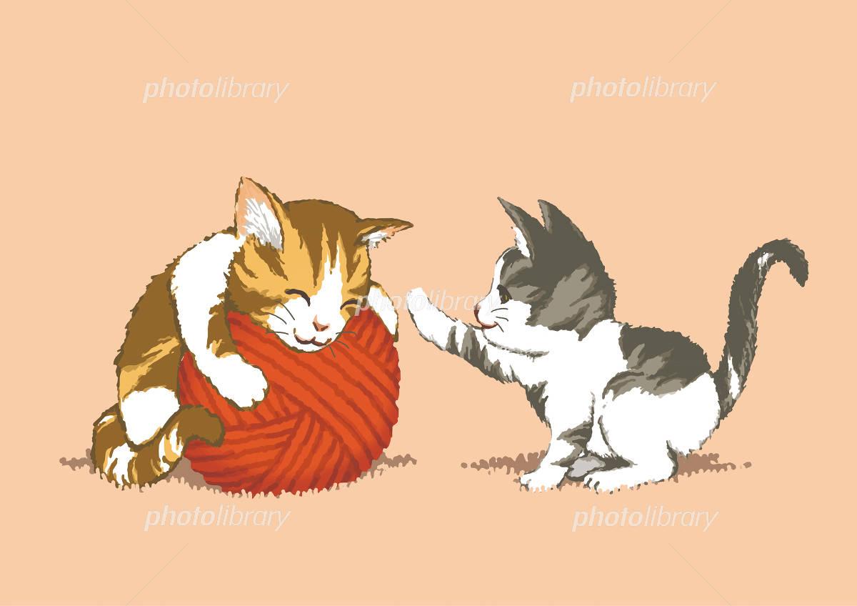子猫イラスト イラスト素材 4815048 フォトライブラリー