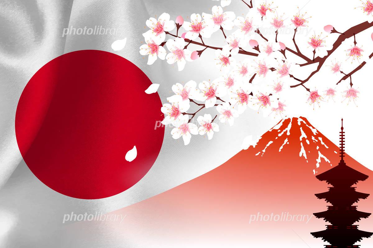桜 富士山 イラスト素材 フォトライブラリー Photolibrary