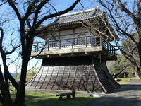 Takashiro castle tower-style gazebo Stock photo [4814155] Miyazaki
