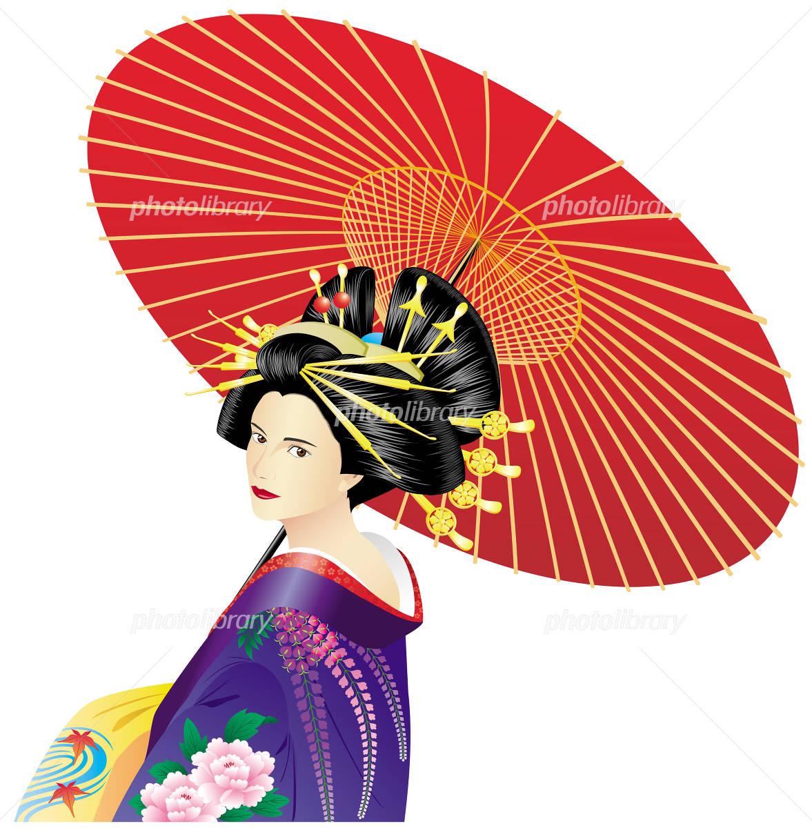 花魁 イラスト素材 158537 フォトライブラリー Photolibrary
