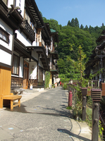 Ginzan spa town of summer Stock photo [156064] Hot