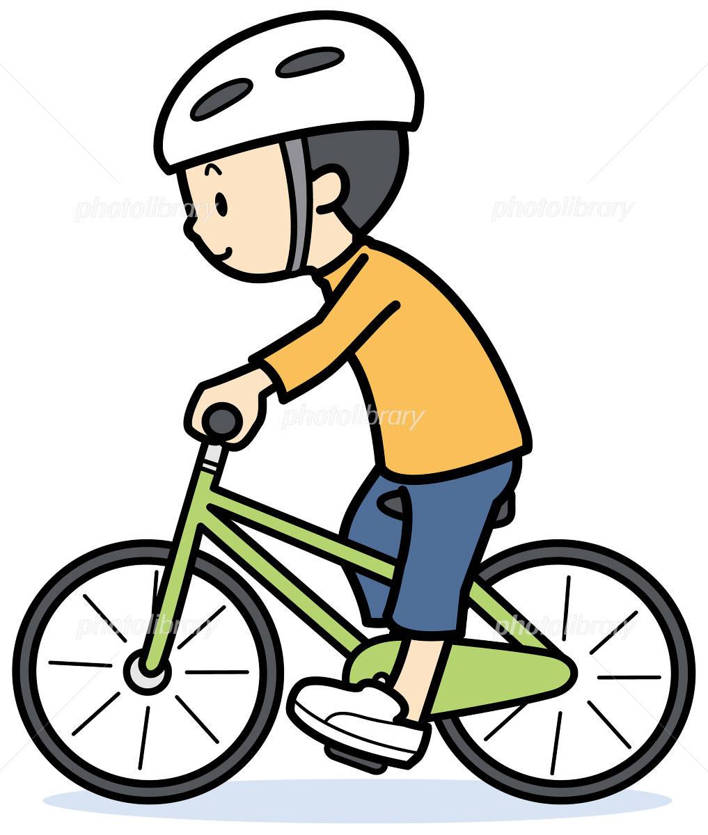 自転車に乗る子供2人 イラスト素材 6244069 フォトライブ