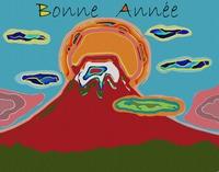 赤富士の年賀状