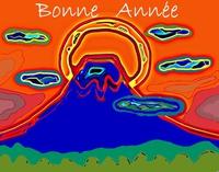 富士山の年賀状