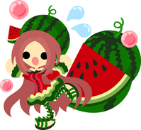 Girl wearing a fashionable fruit of dress [5024098] An