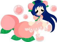 Fashionable girl wearing a fruit of dress [5026485] An