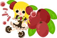 Fashionable girl wearing a fruit of dress [5026493] An