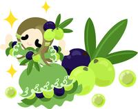 Fashionable girl wearing a fruit of dress [5026495] An