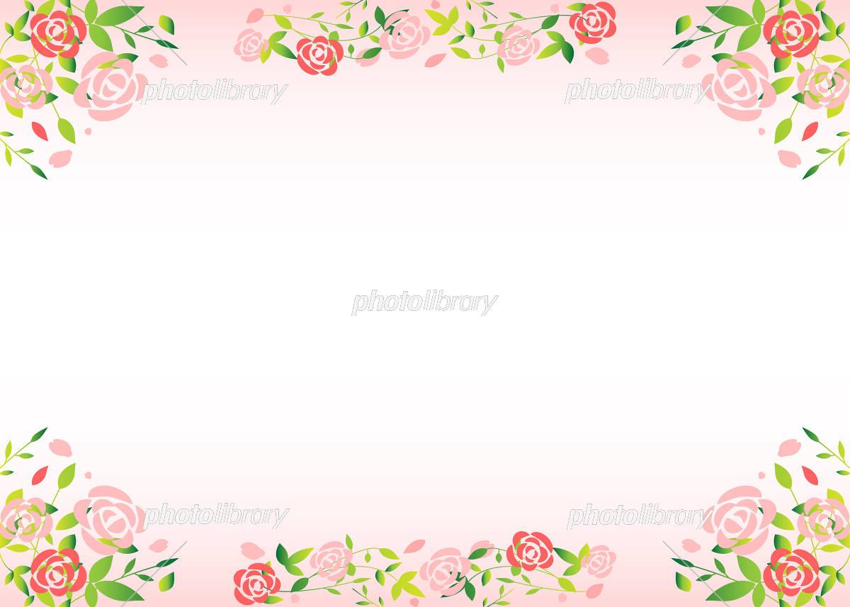 薔薇 フレーム イラスト素材 [ 5120228 ] - フォトライブラリー