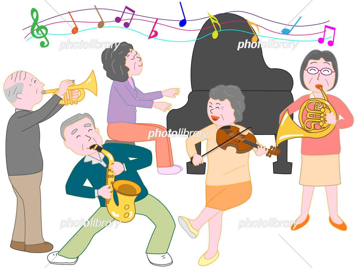 高齢者の演奏会 イラスト素材 5121250 フォトライブラリー