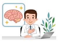 イラスト Doctor explaining the brain(5115156)