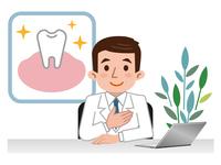 イラスト Doctor explaining teeth(5115158)