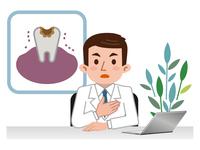 イラスト Doctor explaining tooth decay disease(5115159)