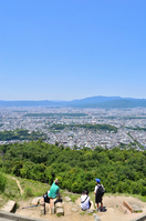 Scenery in Kyoto city seen from capital mountain  Photo