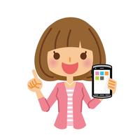 イラスト Female smartphone(5116547)