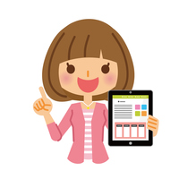 イラスト Women's Tablet(5116548)