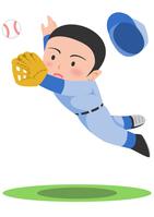 イラスト Baseball diving catch(5117659)