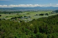 写真 Aizu basin landscape from the hill of Himeisa lily(5118208)