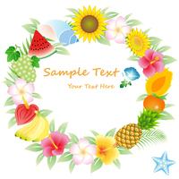 イラスト Flower and fruit lease(5119260)