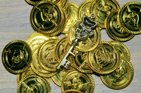 Toy gold coins  Photo