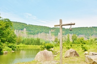 Naeba mountain footpath geopark wrapped in fresh green ? Tsunan Kotama Park Landscape  Photo
