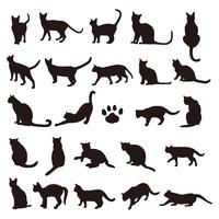 シルエット かっこいい 猫 イラスト