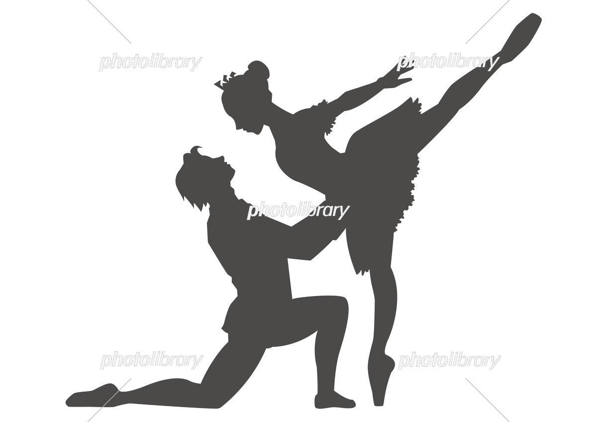 ダンサー5人横並べ(シルエット) イラスト素材 [ 3928412 ] - フォト