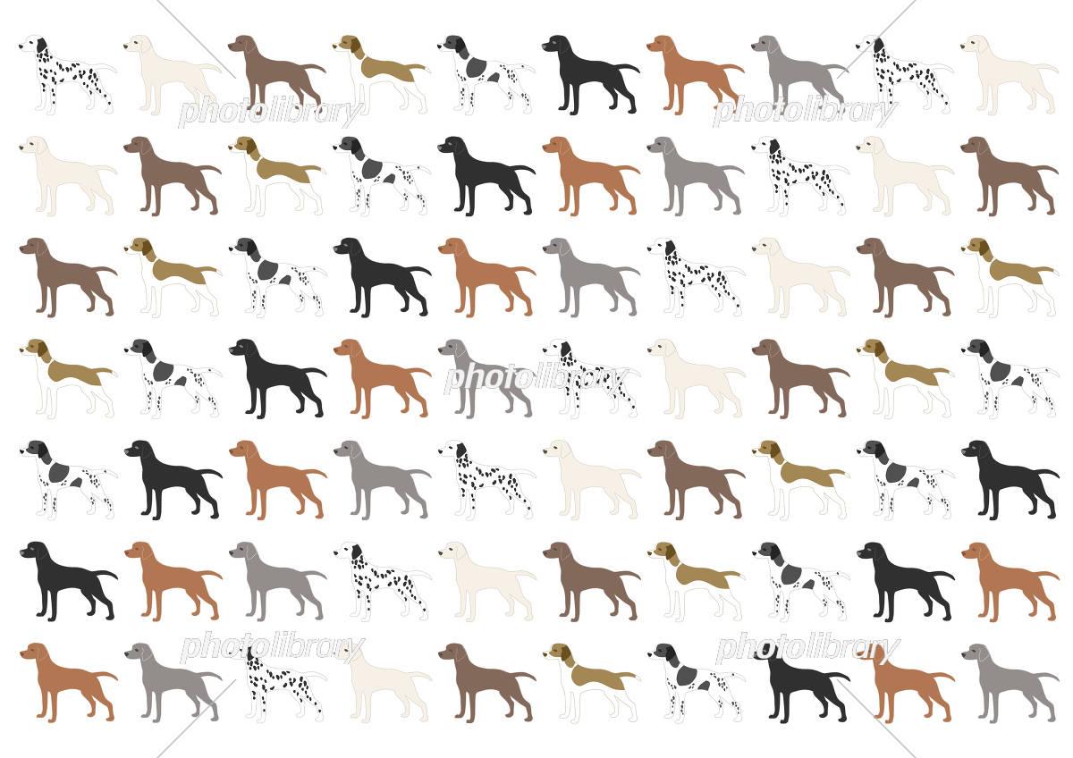 犬 背景イラスト 模様 イラスト素材 [ 5208123 ] - フォトライブラリー