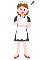 イラスト Restaurant's maid pose(5202333)