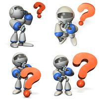 イラスト Cute robot under consideration (multiple angles)(5204012)