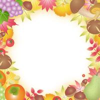 イラスト Autumn taste fruit autumn leaves(5204108)