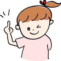 イラスト Female finger pointing(5204181)