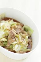 写真 Stir-fried cabbage and pork with garlic vegetables(5204313)