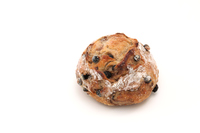 写真 French blueberry bread baguette white background(5204552)