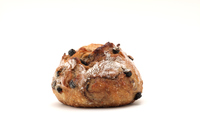 写真 French blueberry bread baguette white background(5204579)