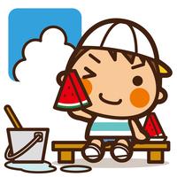 イラスト Watching Water and Watermelon Men(5204670)