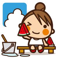 イラスト Watching Water and Watermelon(5204671)