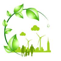 Eco background Ecology Energy saving environment  Illust