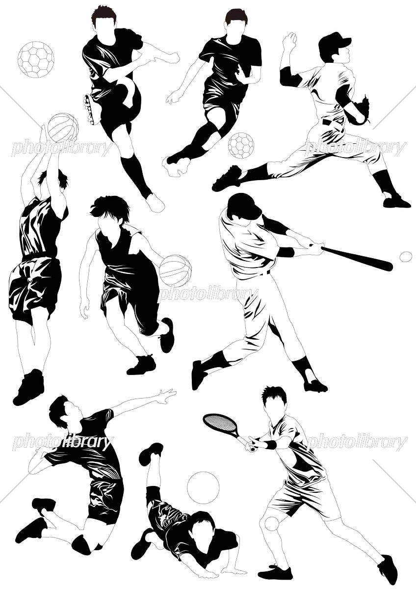 シルエット スポーツ イラスト素材 [ 5308790 ] - フォトライブラリー